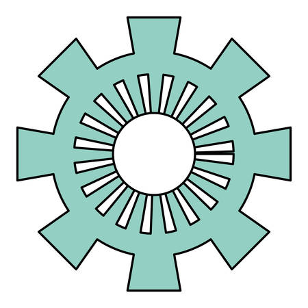 machinery: Gear machinery piece icon vector illustration graphic design
