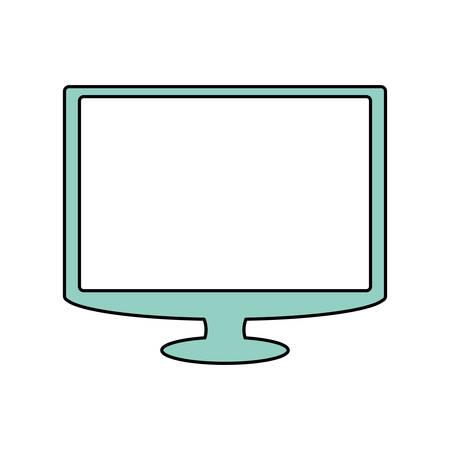 TV screen technology icon vector illustration