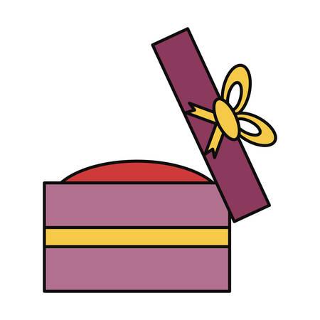 platinum: Wedding ring gift box icon vector illustration graphic design Illustration