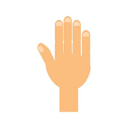 hand touch: Human hand symbol icon vector illustration graphic design
