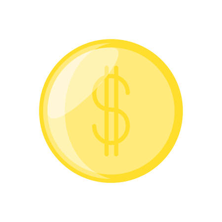 Isolated coin money icon vector illustration graphic design