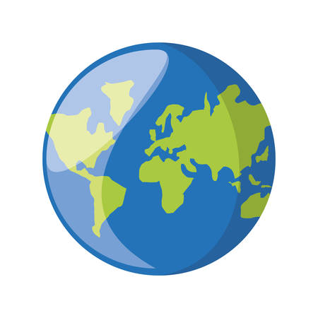 worl: Worl earth isolated icon vector illustration graphic design