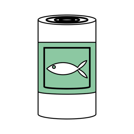 tinned: Food can product icon vector illustration graphic design Illustration