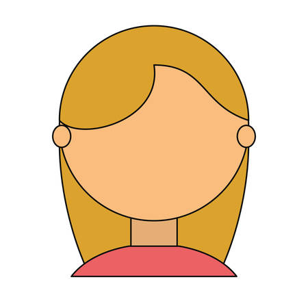 blondie: Young woman faceless cartoon icon vector illustration graphic design