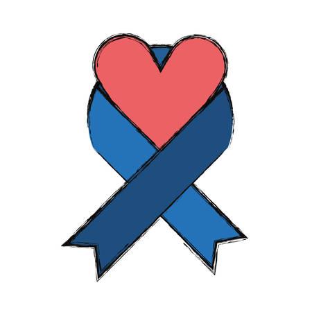 Peace ribbon symbol icon vector illustration graphic design