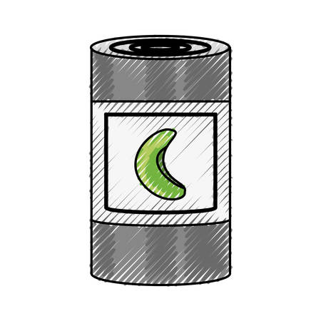 aluminum: Food can product icon vector illustration graphic design Illustration