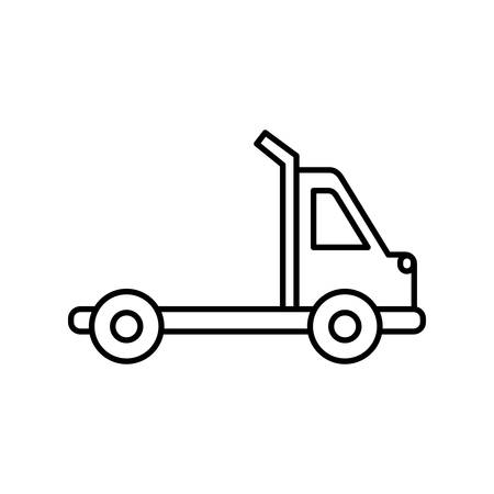 town truck icon over white background vector illustration