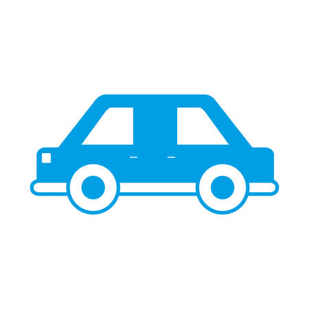 car speed: Car icon over white background vector illustration Illustration