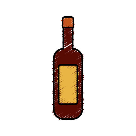 wine bottle icon over white background vector illustration Illustration