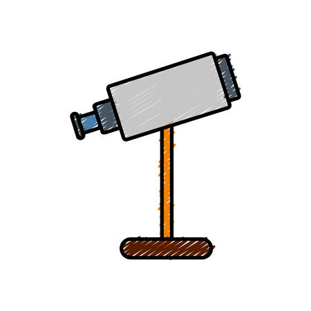 telescope icon over white background vector illustration