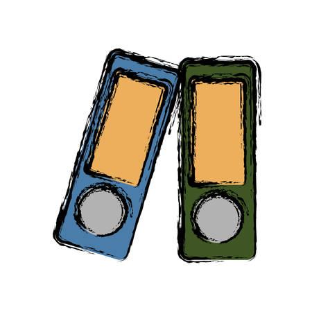 document folders icon over white background vector illustration Illustration