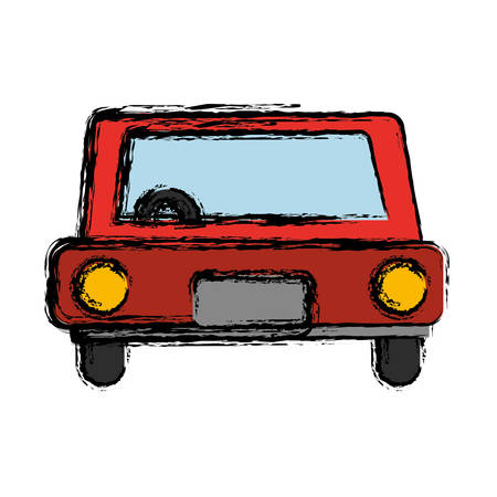 car vehicle icon over white background vector illustration