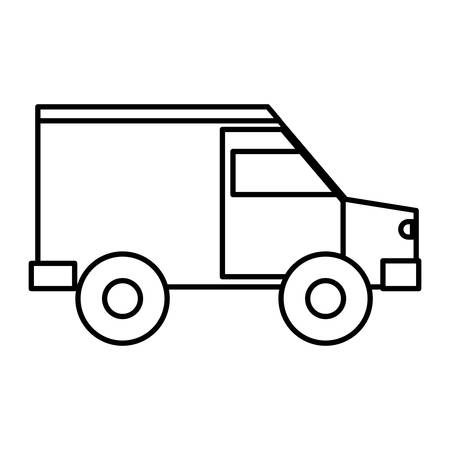 moving truck: cargo truck icon over white background vector illustration