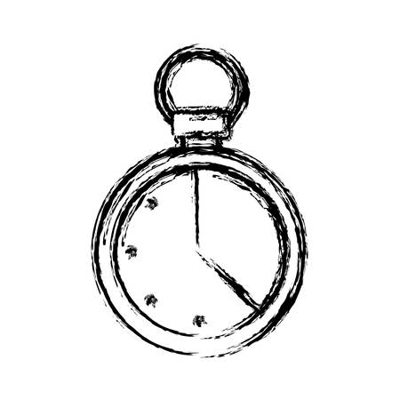 chronometer icon over white background vector illustration Illustration