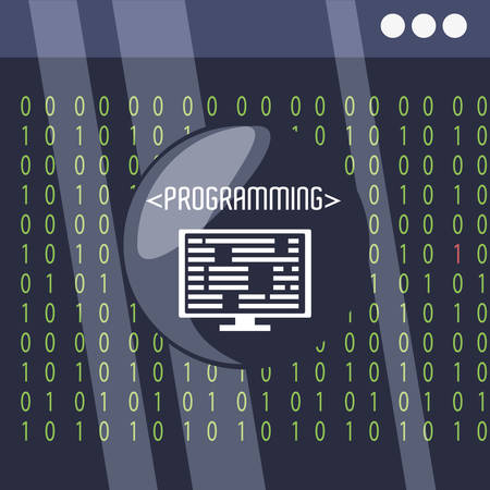 css: programming and coding concept language vector illustration