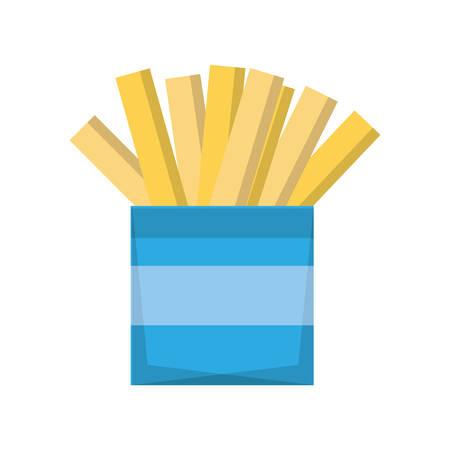 junk: French fries fast fodd icon vector illustration graphic design Illustration