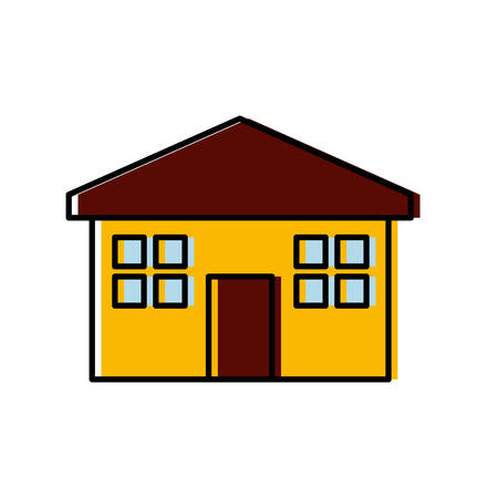 real estate house: House icon over white background vector illustration