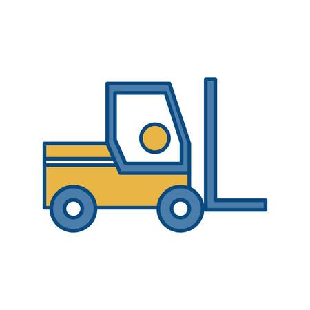forklift truck icon over white background colorful design vector illustration