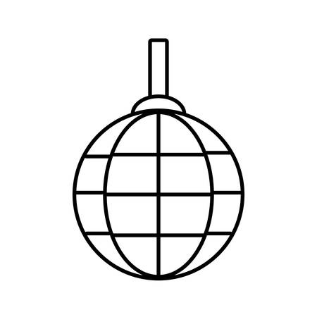 Disco lamp icon over white background vector illustration Illustration