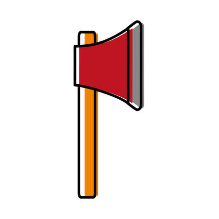 longsword: Ax weapon icon over white background vector illustration
