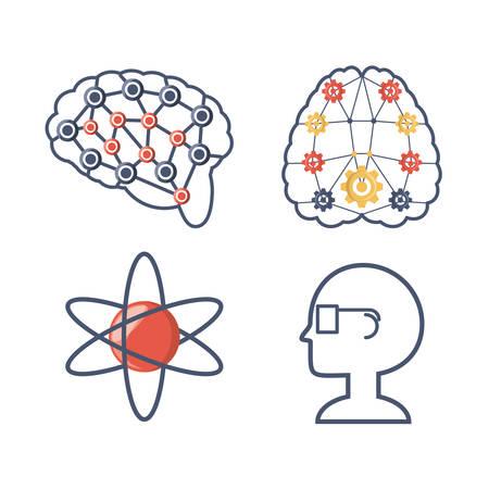 Stellen Sie Wissen Bildung , um Idee Vektor-Illustration zu lernen