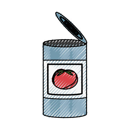 tinned: Food can product icon vector illustration graphic design.