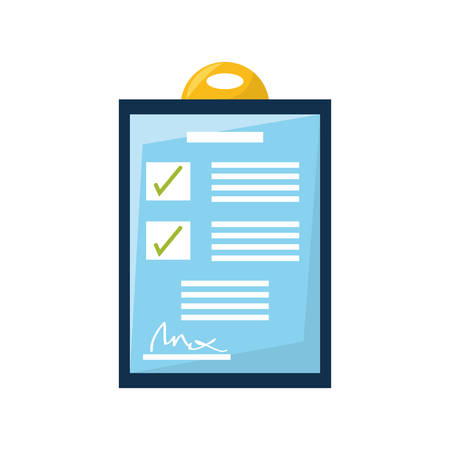 checklist: Checklist document isolated vector illustration graphic desig Illustration