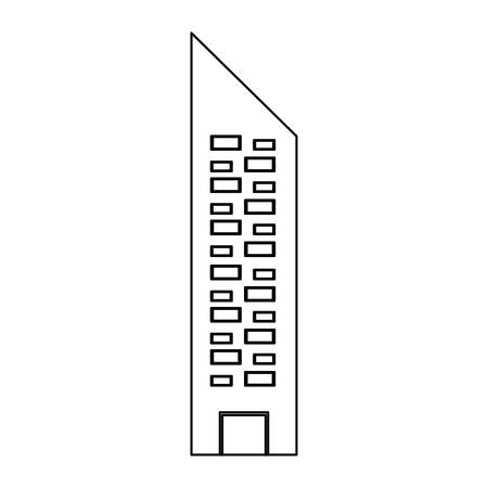 urbanization: Urban tower building icon vector illustration graphic design Illustration