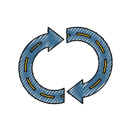 Return arrow symbol icon vector illustration graphic design Illustration