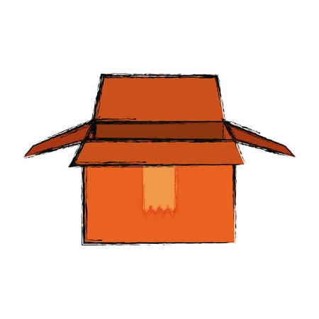 empty warehouse: Box dellivery package icon vector illustration graphic design