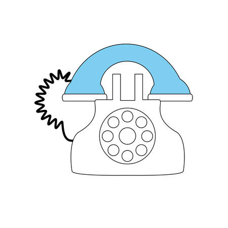 old telephone: Antique telephone isolated icon vector illustration graphic design