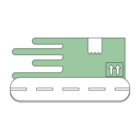 empty warehouse: Box delivery package icon vector illustration graphic design