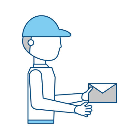 gray: Courier delivery man icon vector illustration graphic design
