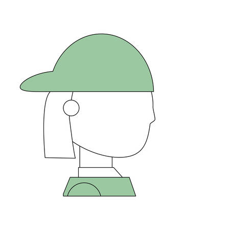Courier delivery man icon vector illustration graphic design