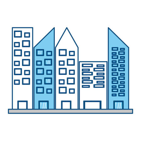 urbanization: Urban towers buildings icon vector illustration graphic design