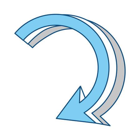Return arrow symbol icon vector illustration graphic design 일러스트