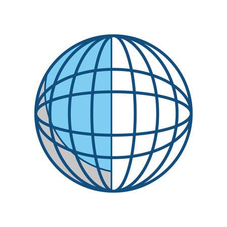 Global sphere symbol icon vector illustration graphic design Illustration