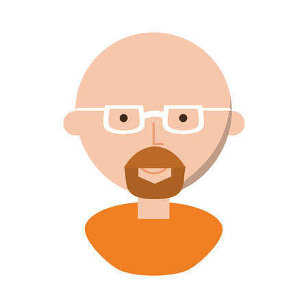 Man with glasses cartoon icon vector illustration graphic design Illustration