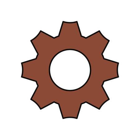 Gear machinery piece icon vector illustration graphic design