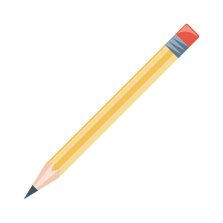 Wooden pencil isolated icon illustration graphic design.