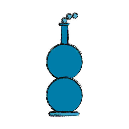 poison bottle: Chemistry flask isolated icon vector illustration graphic design Illustration