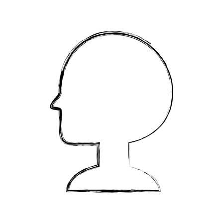Man head silhouette icon vector illustration graphic design Ilustração