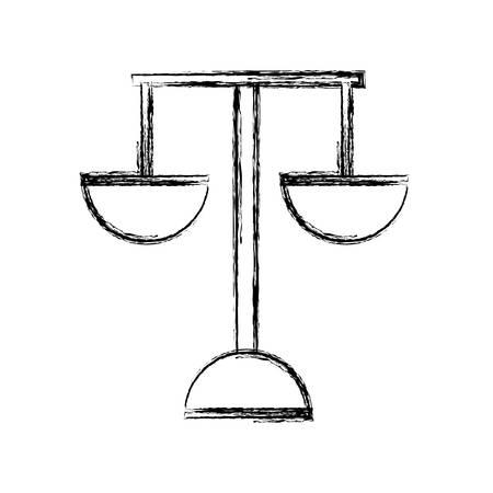 scale of justice: Justice balance symbol icon vector illustration graphic design