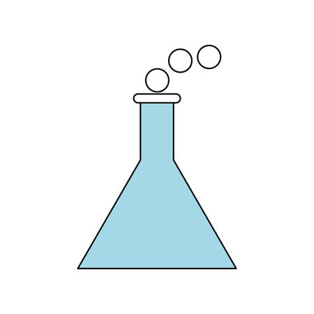 Chemistry flask isolated icon vector illustration graphic design Illustration