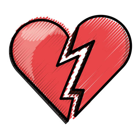 Human heart symbol over white background icon