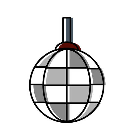 disco lamp icon over white background vector illustration