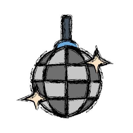 disco lamp icon over white background vector illustration
