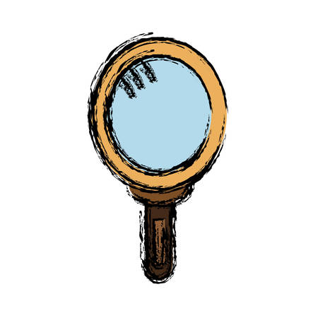 Hand mirror icon over white background vector illustration