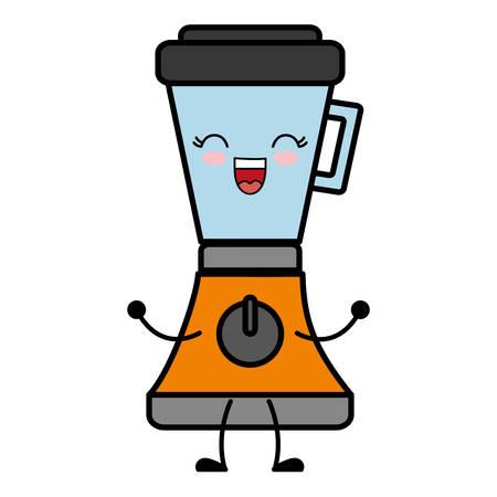 kawaii blender icon over white background vector illustration