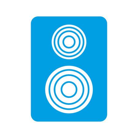 sound speaker icon over white background vector illustration Illustration